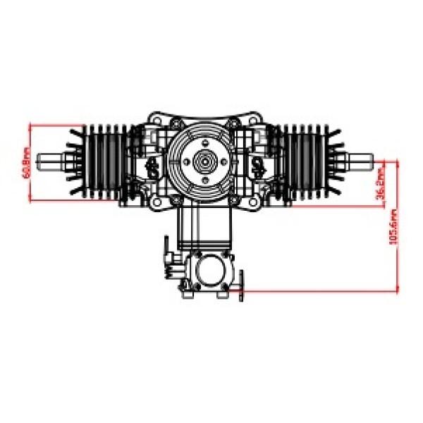 gp 76 cc twin   price includes muffler set