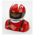 H9 - 35%-40% Painted Pilot Helmet Red/White/B