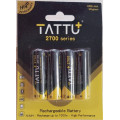 NiMh - 2700mah Tattu rechargeable batteries