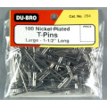 "Dubro # 254 - T-Pins 1-1/2"" (100)"
