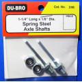 "Dubro # 246 -Axle Shaft 1/8x1-1/4"" (2)"