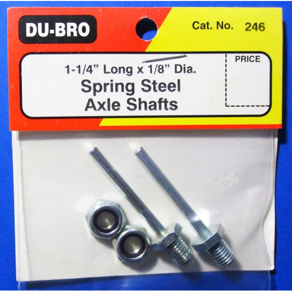 AXLE SHAFTS* DUBRO DUBRO246 1-1//4 IN LONG X 1//8 IN DIA