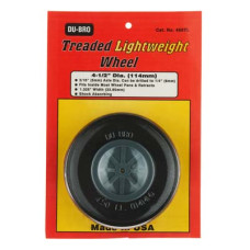 "Dubro # 450TL - Treaded Lightweight Wheel 4-1/2"""
